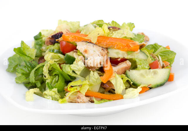 roasted chicken california salad - Stock Image