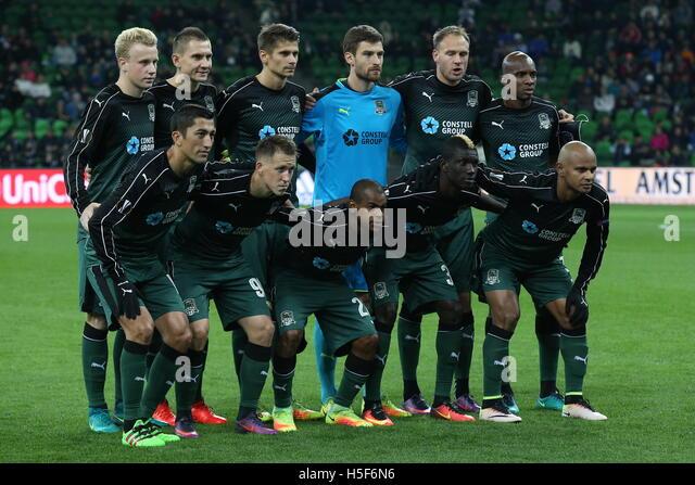 Krasnodar, Russia. 20th Oct, 2016. FC Krasnodar's Odil Ahmedov, Sergei Petrov, Joaozinho, Kouassi Eboue, Ari - Stock Image