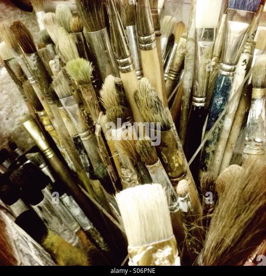 Art brushes - Stock Image