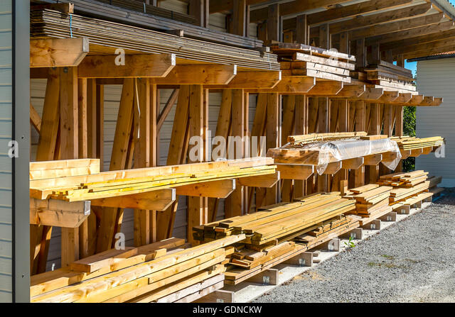 Timber yard stock photos timber yard stock images alamy for Lumber yard storage racks