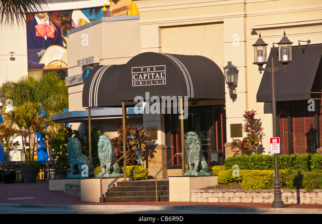 Orlando Florida The Capital Grille at Pointe Orlando on International Drive I-Drive - Stock Image