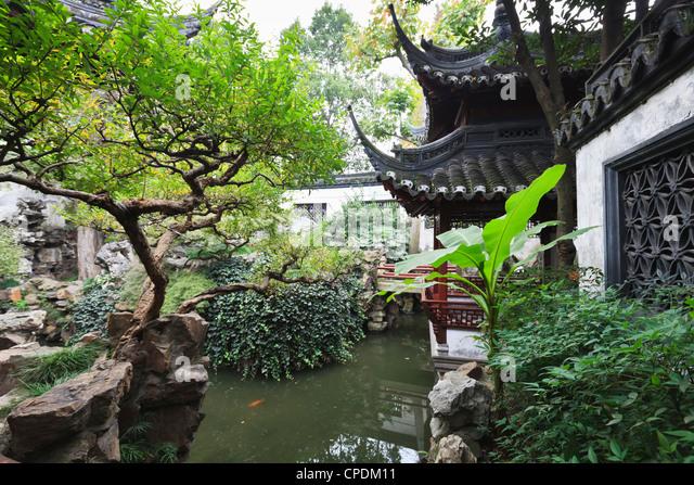 Yu Gardens (Yuyuan Gardens), Nanshi, Shanghai, China - Stock-Bilder