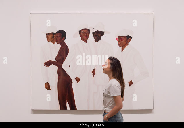 Tate Modern, London, UK. 11th July, 2017. Soul of a Nation: Art in the Age of Black Power. A landmark exhibition - Stock Image