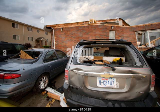 storm cars damage stock photos storm cars damage stock images alamy. Black Bedroom Furniture Sets. Home Design Ideas