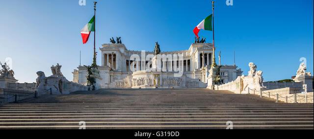 Monument Vittorio Emanuele II, Rome, Italy - Stock Image