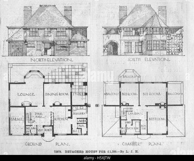 Floor plans black and white stock photos images alamy for Builder magazine house plans