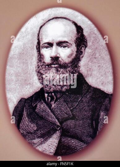 French Explorer Henri Mouhot - Stock-Bilder