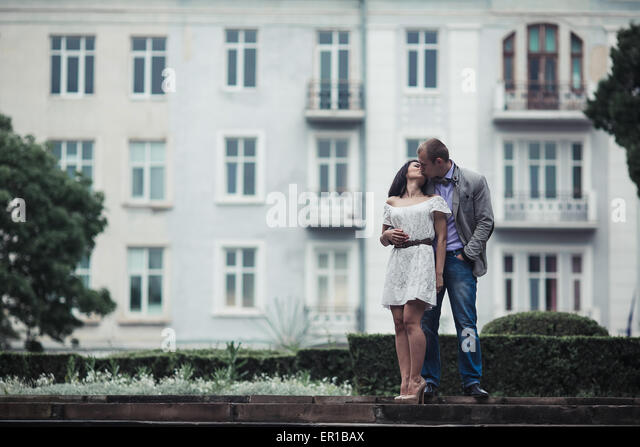 Young couple having a great time - Stock Image