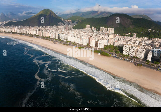 Copacabana beach, Copacabana, Rio de Janeiro, Brazil - Stock Image