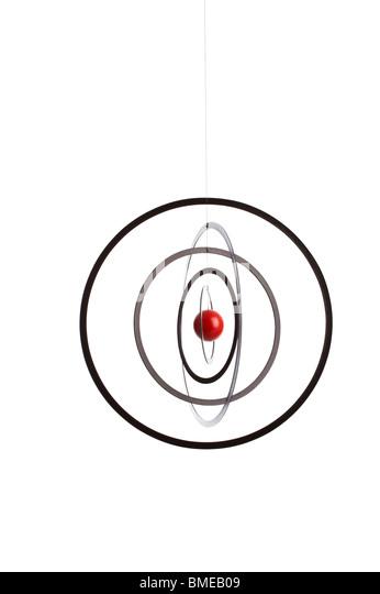 Geometric shape hanging on string - Stock Image