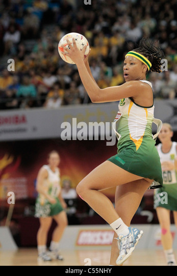 08.07.2011 Zanele Mdodana of South Africa in action during the Quarter-finals between New Zealand and South Africa, - Stock Image