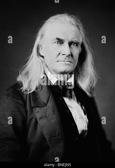Edmund Ruffin (1794 - 1865) - credited with firing the first shot of the American Civil War at the Battle of Fort - Stock Image