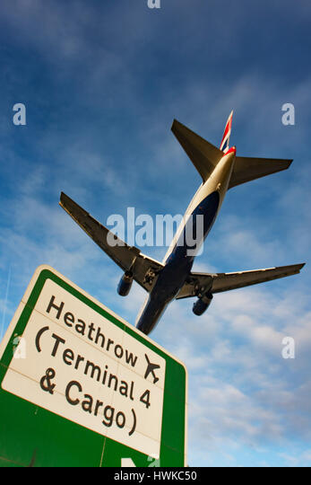 at London Heathrow Airport, UK - Stock Image