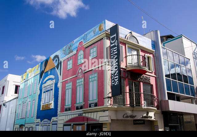 Bridgetown Barbados colorful shopping area on Lower Broad Street. - Stock Image