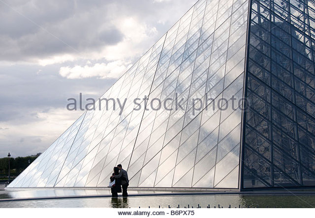 Louvre Museum, the Pyramid by the architect Ieoh Ming Pei, Paris, France, Europe - Stock-Bilder