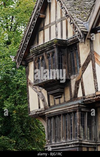 Wattle and Daub Building, Cornmarket Street, Oxford, United Kingdom. - Stock Image