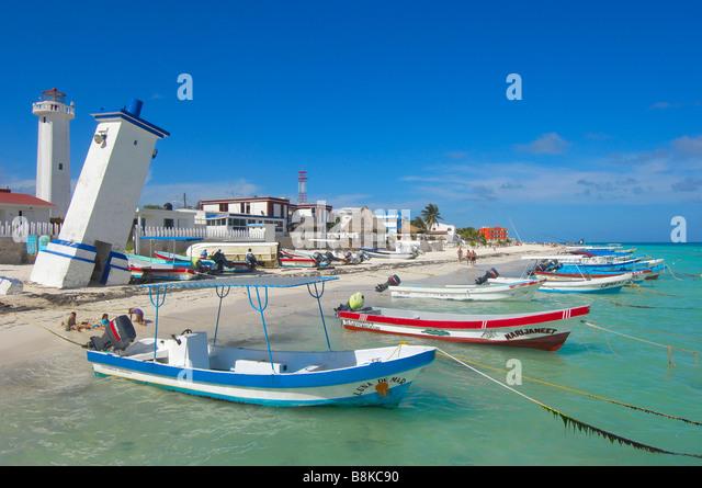 Puerto morelos beach mayan riviera stock photos puerto for Puerto morelos fishing