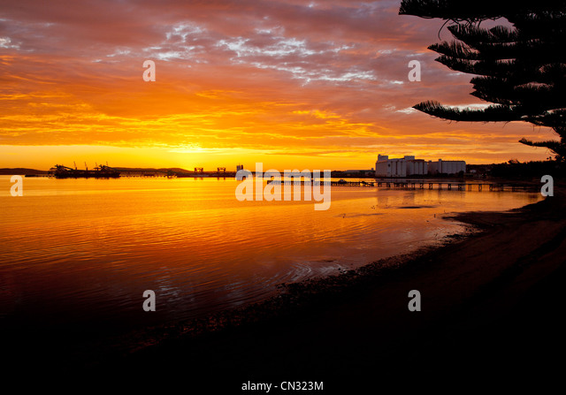 Dawn at foreshore. Port Lincoln. Eyre Peninsula South Australia - Stock Image