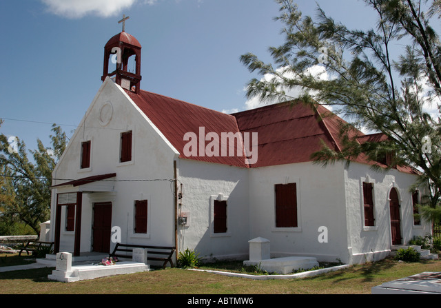 Grand Turk Cockburn Town St. Mary Church built 1900 - Stock Image