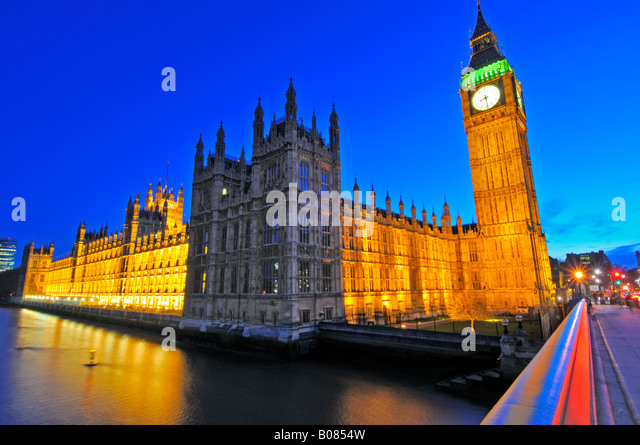 Palace of Westminster Parliament London United Kingdom - Stock Image