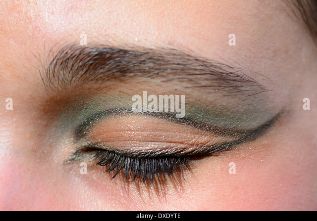 Eye makeup, eyelid - Stock Image