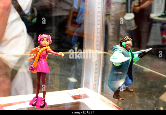 San Diego. 23rd July, 2014. Action figurines are displayed on July 23, 2014 during the San Diego Comic-Con International - Stock Image