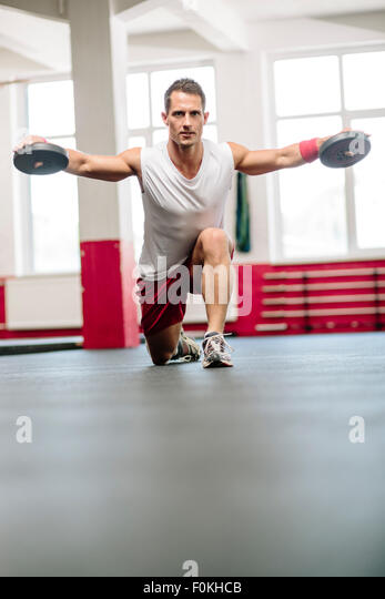 Weightlifting man - Stock Image