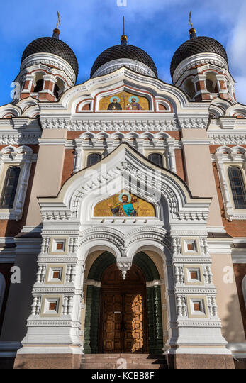 The Alexander Nevsky Cathedral in the Tallinn Old Town in Estonia. An Eastern Orthodox Church built in the Russian - Stock Image