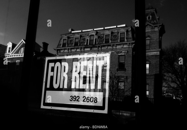 An old building for rent - Stock Image