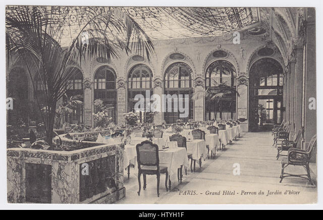 Grand Hotel, Paris, France, Winter Garden - Stock Image