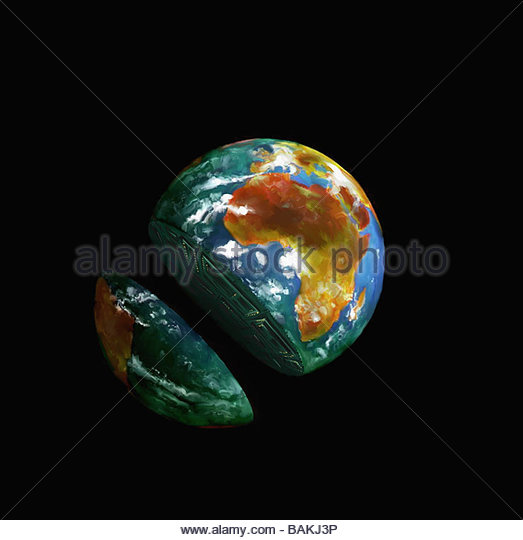 Sliced Globe - Stock-Bilder
