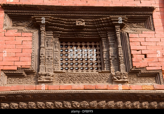 Newari design stock photos newari design stock images for Window design in nepal