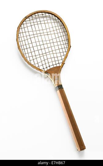 Retro Tennis Racket - Stock Image