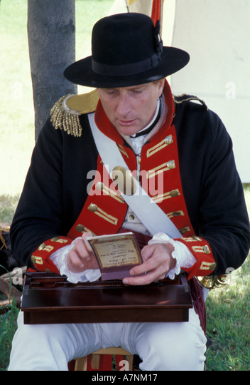 USA, WA, Fort Walla Walla Museum, Lewis & Clark Days, actor portraying William Clark - Stock-Bilder