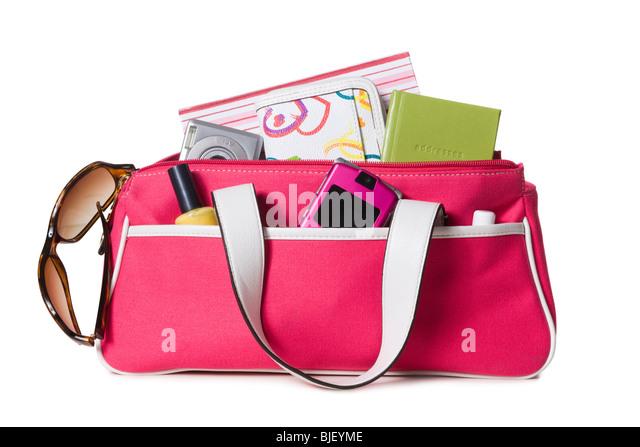 pink purse - Stock Image