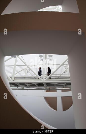 USA, California, San Francisco, SOMA, San Francisco Museum of Modern Art, SFMOMA, architectural detail - Stock Image