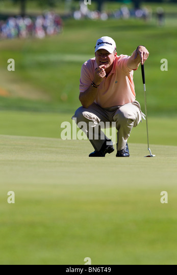 Scott Verplank competing at the 2010 AT&T National - Stock Image