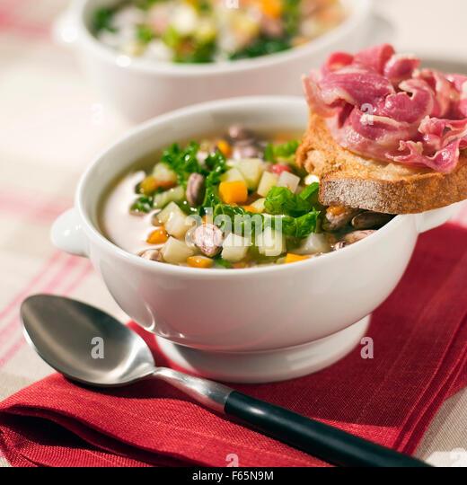 Corsican soup - Stock Image