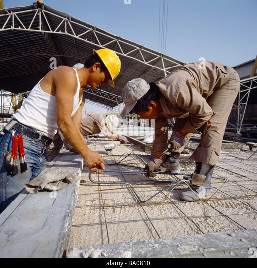 Saudi Arabia Mabco Construction Site Workers - Stock Image