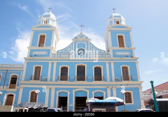 Roman Catholic cathedral, Santarem, Para, Brazil - Stock-Bilder