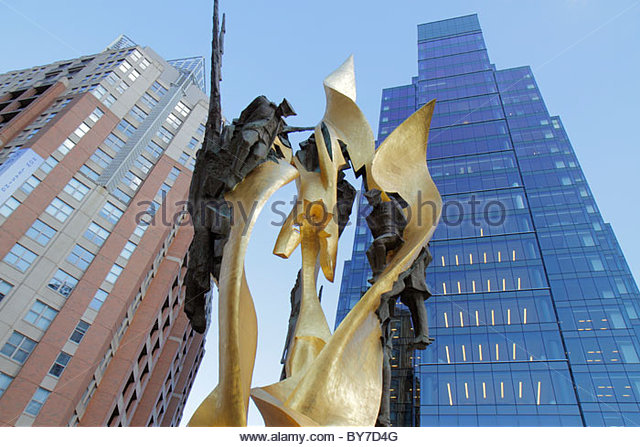 Baltimore Maryland Harbor East neighborhood Katyn Massacre Memorial monument World War II Poland Polish history - Stock Image