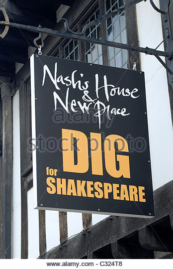 Stratford upon Avon, Warwickshire, UK Nash's House and New Place Dig for Shakespeare. - Stock Image
