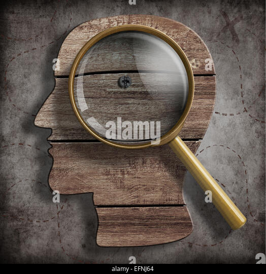 Brain or psychology problem research concept - Stock Image