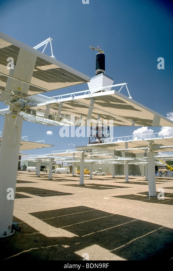 Solar farm at Solar One in Mojave Desert, CA - Stock Image