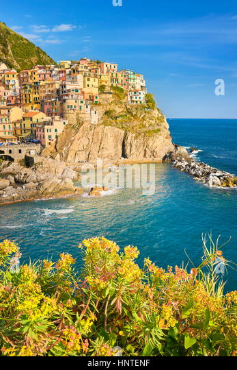 Manarola, Cinque Terre, Liguria, Italy - Stock Image