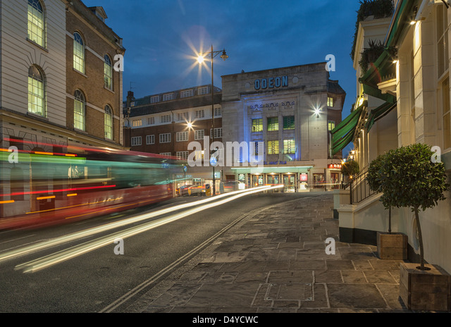 Odeon Cinema at night,Richmond Upon Thames,South West London,England - Stock Image