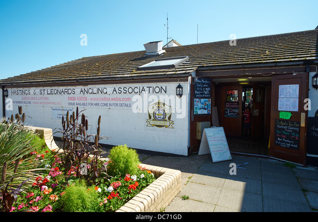 Hastings & St Leonards Angling Association Club House Marine Parade Hastings Sussex UK - Stock Image