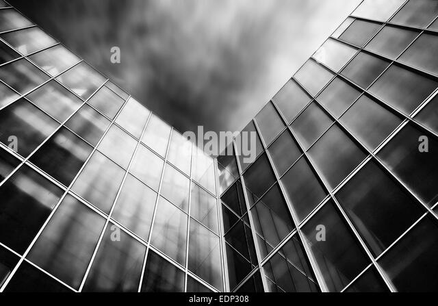 Abstract architecture black and white - Stock Image
