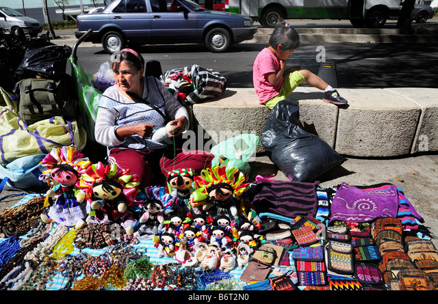 Street vendor, Mexico City - Stock Image