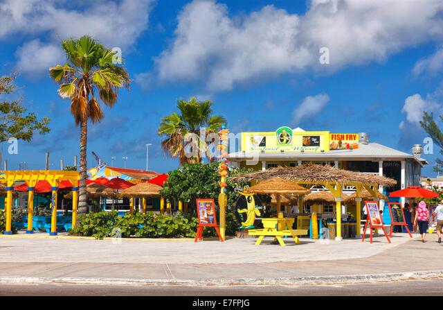Bahamas nassau restaurant stock photos bahamas nassau for Bahamas fish market